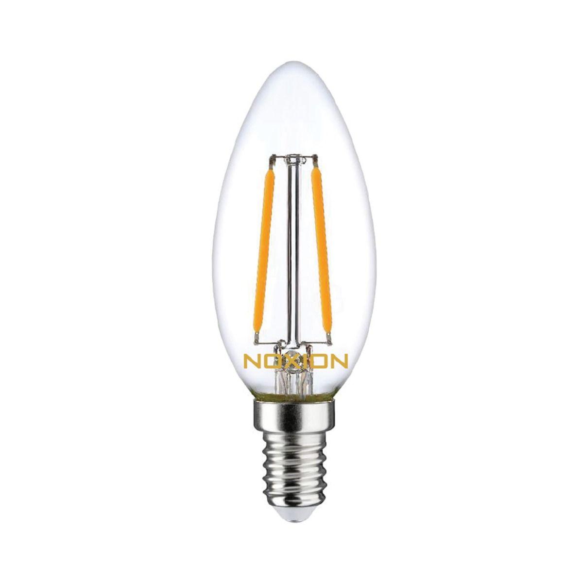 Noxion Lucent Fadenlampe LED Kerze B35 E14 2.5W 250lm 827 | Dimmbar - Extra Warmweiß - Ersatz für 25W