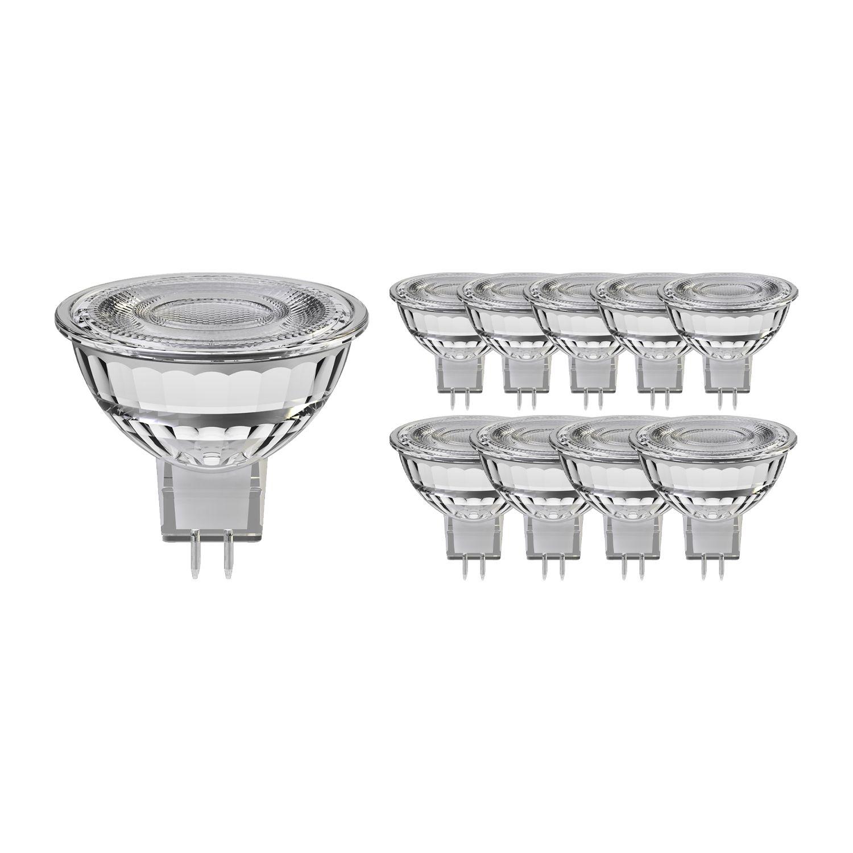 Mehrfachpackung 10x Noxion LED-Spot GU5.3 8W 830 60D 660lm | Dimmbar - Warmweiß - Ersatz für 50W