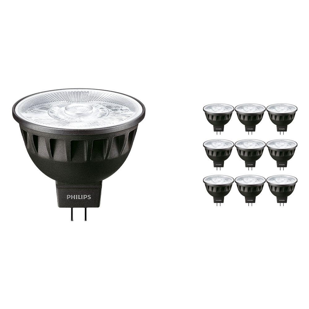 Mehrfachpackung 10x Philips LEDspot ExpertColor GU5.3 MR16 6.5W 930 10D (MASTER) | Warmweiß - Höchste Farbwiedergabe - Dimmbar - Ersatz für 35W
