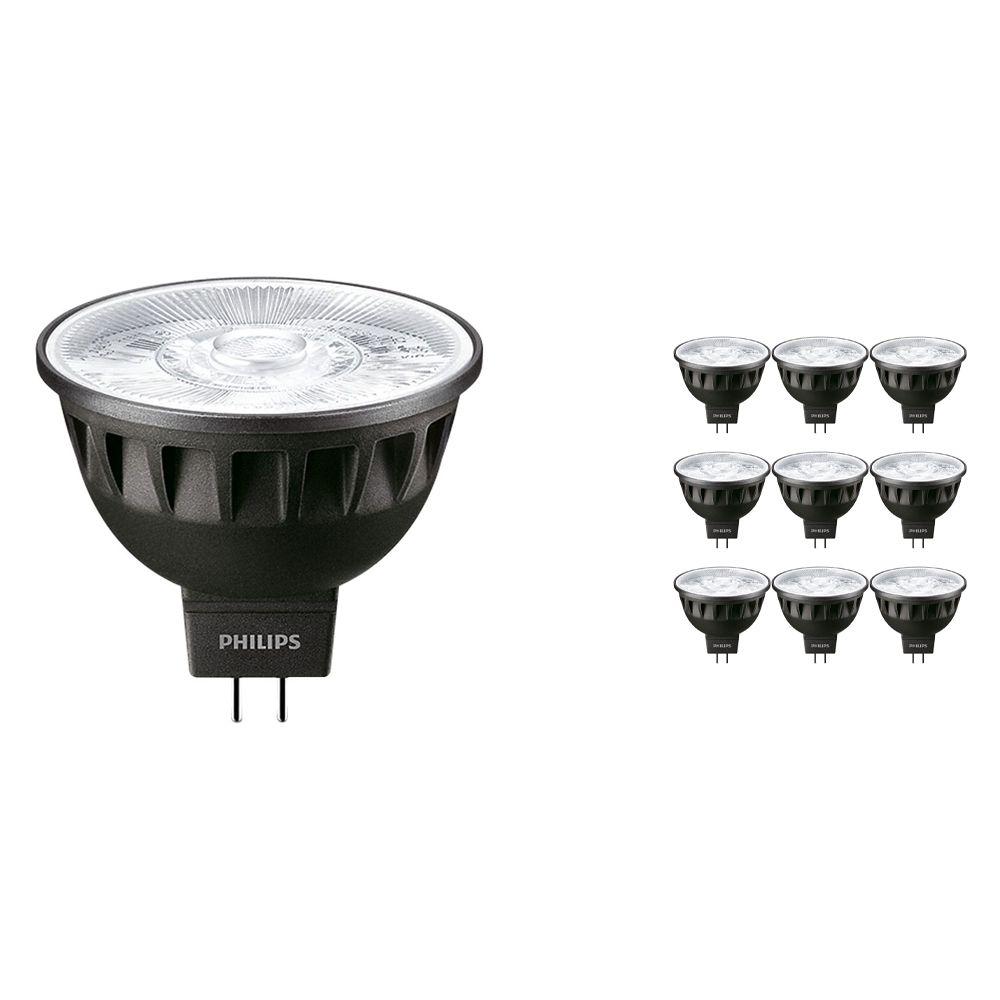 Mehrfachpackung 10x Philips LEDspot ExpertColor GU5.3 MR16 7.5W 930 24D (MASTER) | Warmweiß - Höchste Farbwiedergabe - Dimmbar - Ersatz für 50W