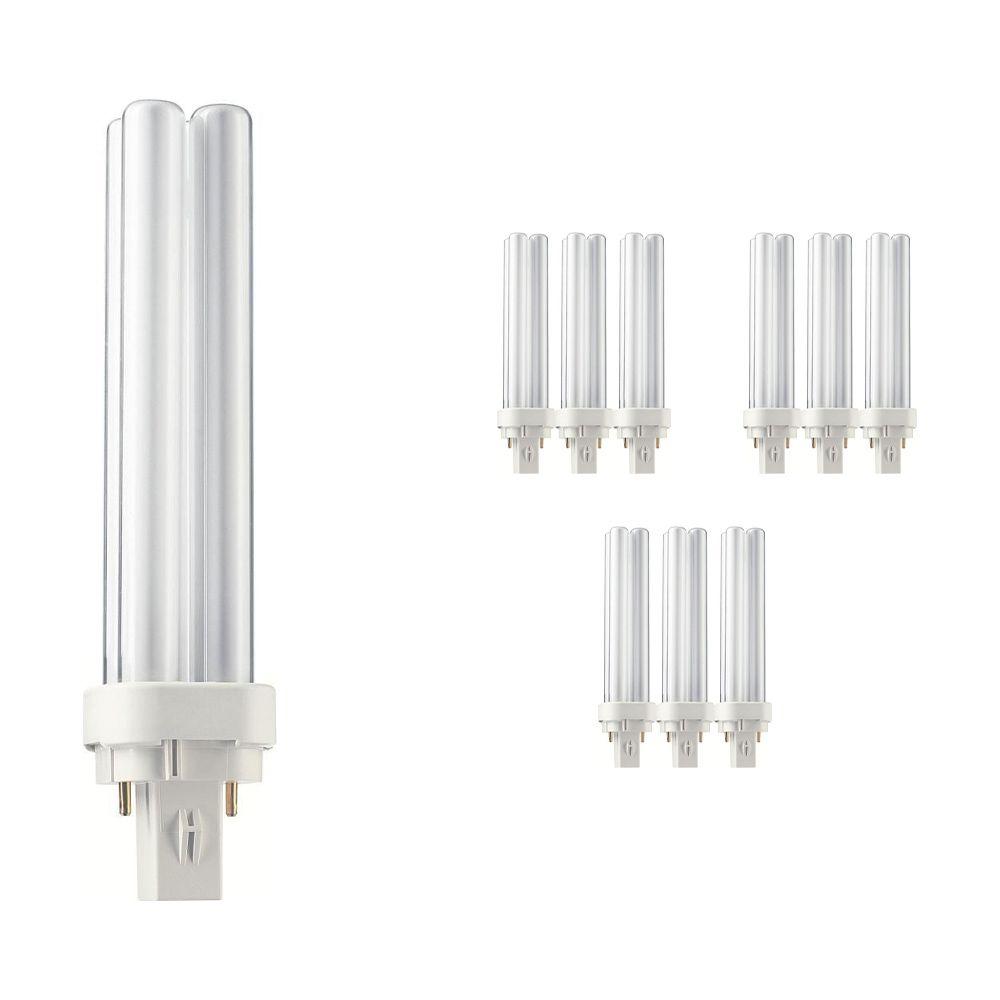 Mehrfachpackung 10x Philips PL-C 26W 865 2P (MASTER) | Tageslichtweiß - 2-Pins