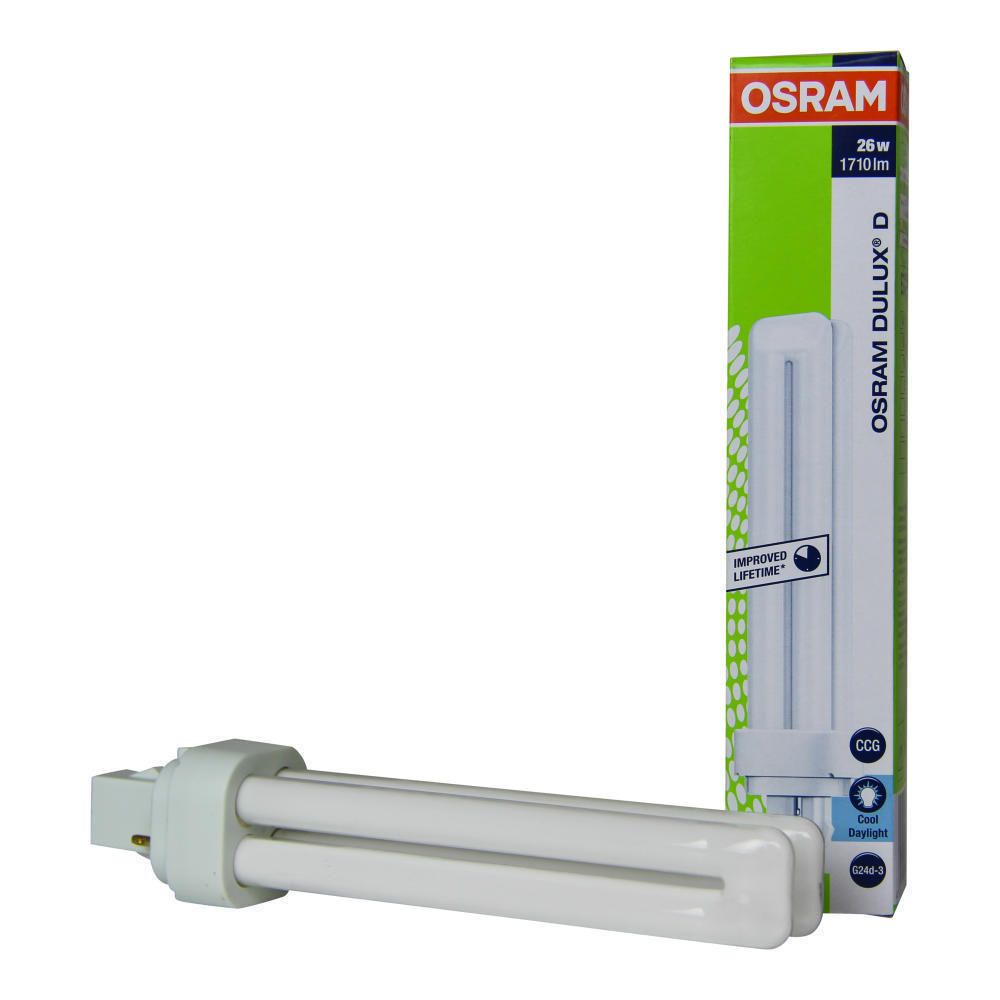 Osram Dulux D 26W 865 | Tageslichtweiß - 2-Stift