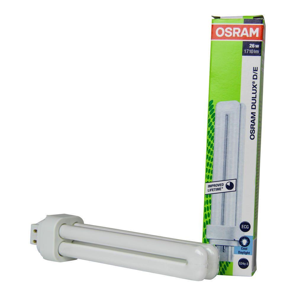 Osram Dulux D/E 26W 865 | Tageslichtweiß - 4-Stift