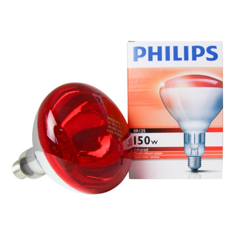 Philips BR125 IR 150W E27 230-250V Rot