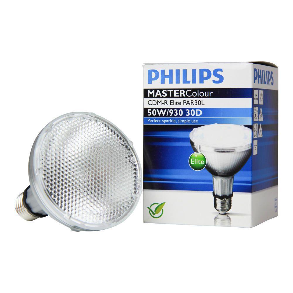 Philips MASTERColour CDM-R Elite 50W 930 E27 PAR30L 30D | Warmweiß - Beste Farbwiedergabe