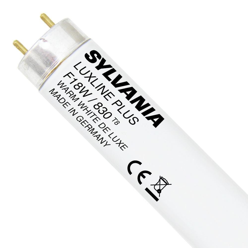 Sylvania T8 Luxline Plus F18W 830   60cm - Warmweiß