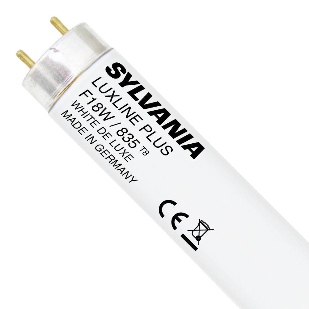 Sylvania T8 Luxline Plus F18W 835   60cm - Kaltweiß