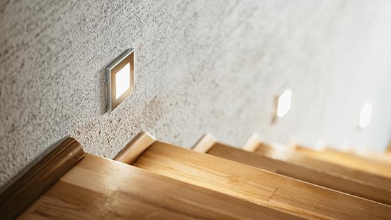 LED-Einbaustrahler als Treppenbeleuchtung