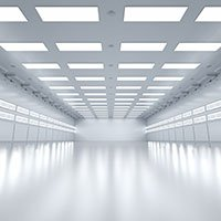 LED-Panels in einem leeren Büro