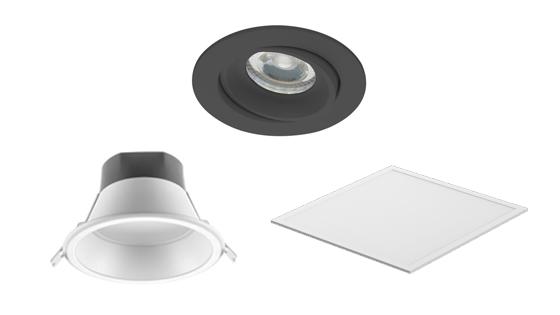 LED-Einbauleuchten: LED-Panel, LED-Deckenspot und LED-Einbaustrahler
