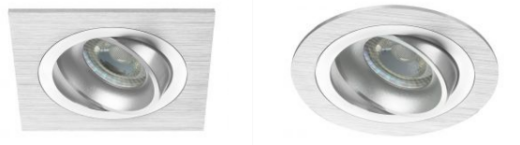 eckige und runde LED-Einbaustrahler