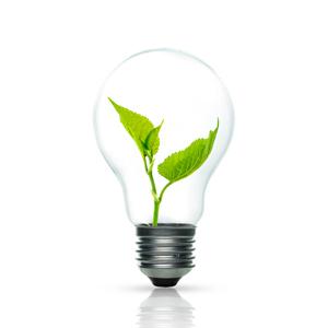 Lampe mit Blatt