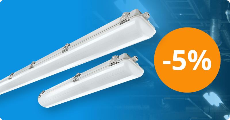 5% auf Wasserdichte LED-Deckenleuchten von Noxion
